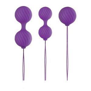 Набор фиолетовых вагинальных шариков Luxe O  Weighted Kegel Balls