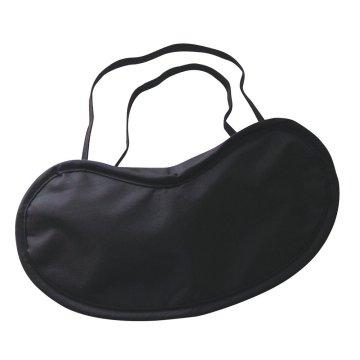 Чёрная маска на глаза на резинке