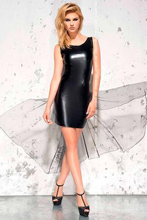 Эротическое wet-look платье Jasmin со шлейфом