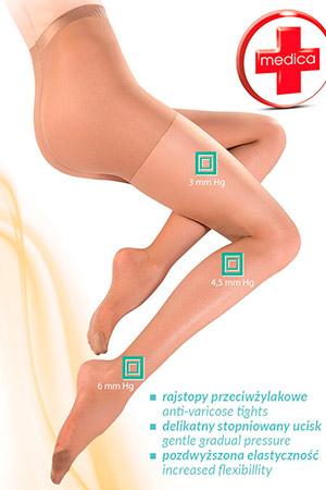 Колготки с антицеллюлитным эффектом Medica Relax 40 den Neutro