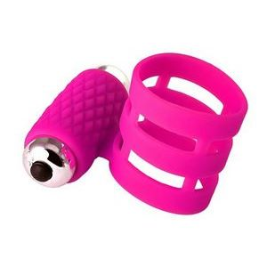 Розовое эрекционное виброкольцо ADMA