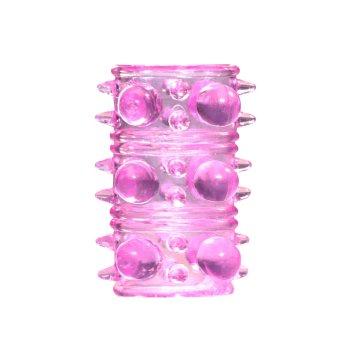 Розовая насадка на пенис Rings Armour