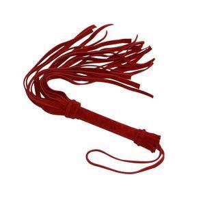 Красная мини-плеть «Королевский велюр» - 40 см.