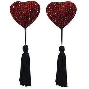 Пэстисы в форме сердца с кисточками