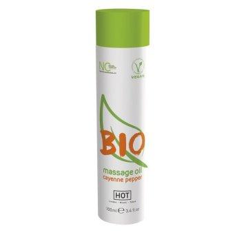 Массажное масло BIO Massage oil cayenne pepper с кайенским перцем - 100 мл.