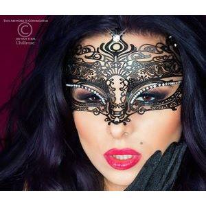 Фигурная чёрная маска Mysterious Mask